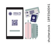covid 19 passport  health... | Shutterstock .eps vector #1893560041