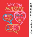 i am awesome graphic design   Shutterstock . vector #1893573487
