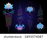 lotus and sacred geometry.... | Shutterstock .eps vector #1893574087