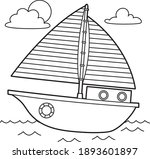 cute and funny coloring page of ... | Shutterstock .eps vector #1893601897