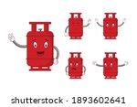 cartoon red gas cylinder... | Shutterstock .eps vector #1893602641