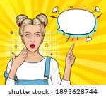 modern surprised woman wow face....   Shutterstock .eps vector #1893628744