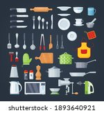 house cookware utensils for... | Shutterstock .eps vector #1893640921