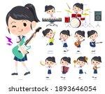 a set of sailor suit girl...   Shutterstock .eps vector #1893646054