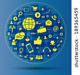 social media concept vector...   Shutterstock .eps vector #189365459