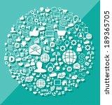 social media concept vector... | Shutterstock .eps vector #189365705
