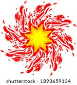 flaming star symbol on a white... | Shutterstock .eps vector #1893659134