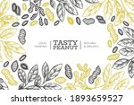 hand drawn peanut branch and... | Shutterstock .eps vector #1893659527