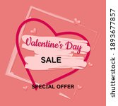 valentine's day pink sale...   Shutterstock . vector #1893677857