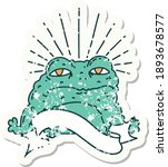 worn old sticker of a tattoo... | Shutterstock .eps vector #1893678577