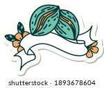 tattoo style sticker with... | Shutterstock .eps vector #1893678604
