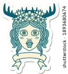 sticker of a human druid... | Shutterstock .eps vector #1893680674