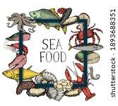 Seafood Frame Background....