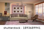 interior of the living room. 3d ... | Shutterstock . vector #1893689941