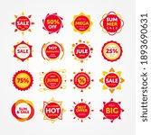 summer sale badge icon set....   Shutterstock .eps vector #1893690631