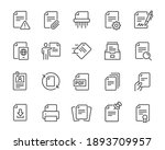 document icons set. collection... | Shutterstock .eps vector #1893709957