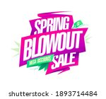 spring blowout sale  mega... | Shutterstock .eps vector #1893714484