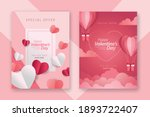 valentine's day concept posters ... | Shutterstock .eps vector #1893722407
