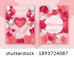 valentine's day concept posters ... | Shutterstock .eps vector #1893724087