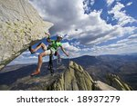 climber rappelling from the... | Shutterstock . vector #18937279