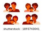 family avatars. heterosexual... | Shutterstock .eps vector #1893743041