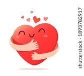 vector cartoon cute happy heart ...   Shutterstock .eps vector #1893782917
