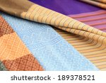 thai style pattern on thai cloth