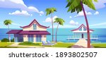 modern bungalows on island... | Shutterstock .eps vector #1893802507