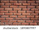Orange Square Brick Wall...