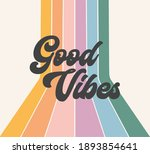 retro rainbow positive good... | Shutterstock .eps vector #1893854641