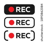 red recording sign for panel ...   Shutterstock .eps vector #1893862084