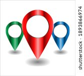 location icon 3d set. map...