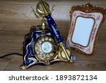 Retro Telephone And Photo Frame