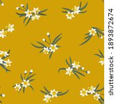 seamless plant pattern with...   Shutterstock .eps vector #1893872674