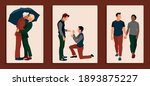 homosexual couples celebrating...   Shutterstock .eps vector #1893875227