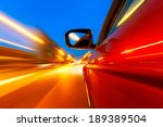 car on the road with motion... | Shutterstock . vector #189389504
