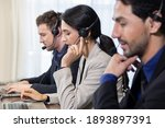 side view of telemarketing... | Shutterstock . vector #1893897391