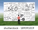 businessman looking at seo... | Shutterstock . vector #189391019