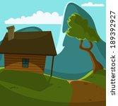 cartoon illustration of cabin... | Shutterstock .eps vector #189392927