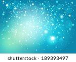 blue snow bokeh background....