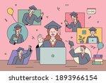 non face to face graduation... | Shutterstock .eps vector #1893966154