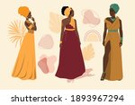 collection of beautiful fashion ... | Shutterstock .eps vector #1893967294