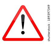 hazard warning attention sign... | Shutterstock . vector #189397349
