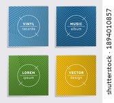 gradient plate music album...   Shutterstock .eps vector #1894010857