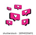 heart in speech bubble icon.... | Shutterstock .eps vector #1894020691