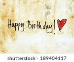 happy birthday message | Shutterstock . vector #189404117