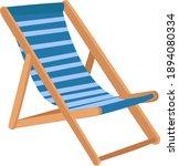 sun lounger  illustration ... | Shutterstock .eps vector #1894080334