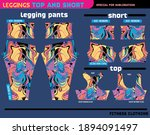 fitness pants top and short... | Shutterstock .eps vector #1894091497
