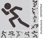 summer sports icons    set of... | Shutterstock .eps vector #189409964