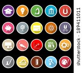 education icons with long